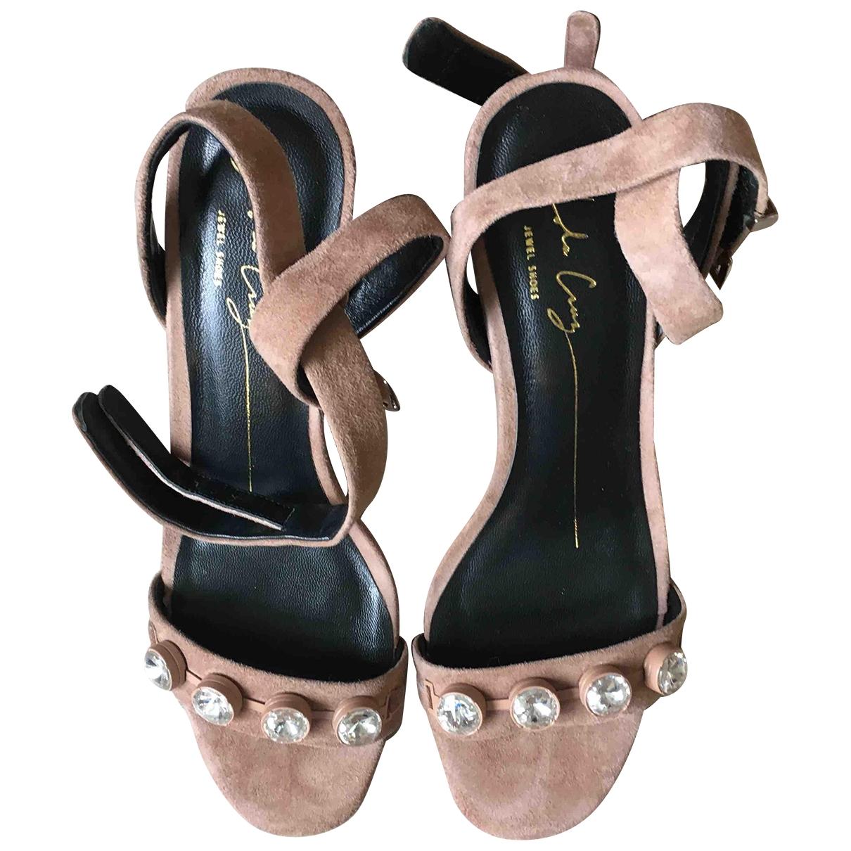 Non Signé / Unsigned \N Beige Suede Sandals for Women 39 EU