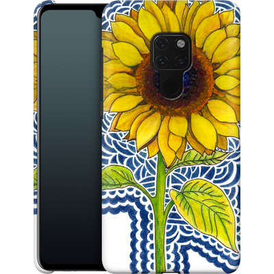Huawei Mate 20 Smartphone Huelle - Sunflower Drawing von Kaitlyn Parker
