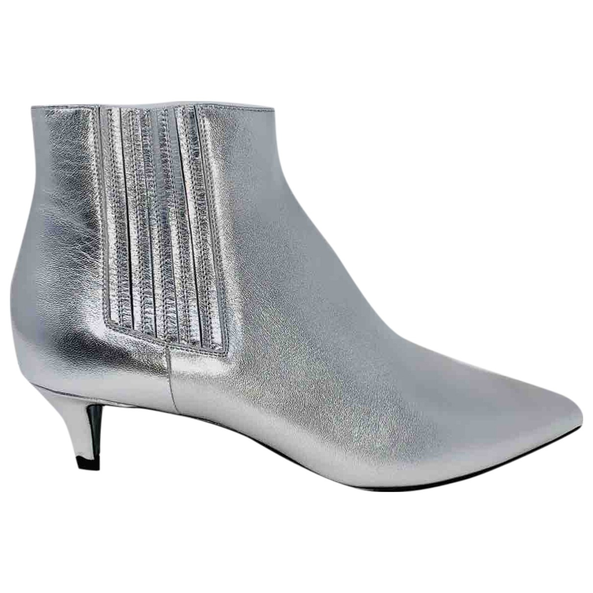 Celine Sharp Stiefeletten in  Silber Leder