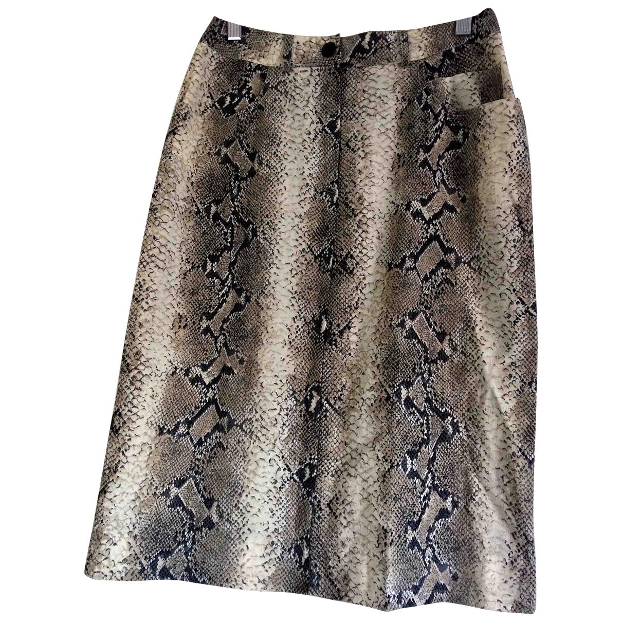 John Galliano - Jupe   pour femme en laine - beige