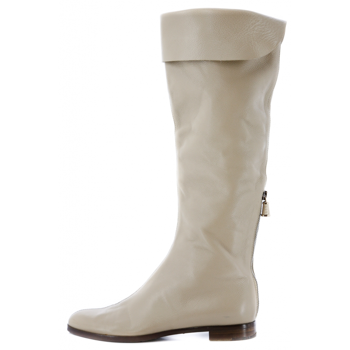 Sergio Rossi \N Beige Leather Boots for Women 37 EU