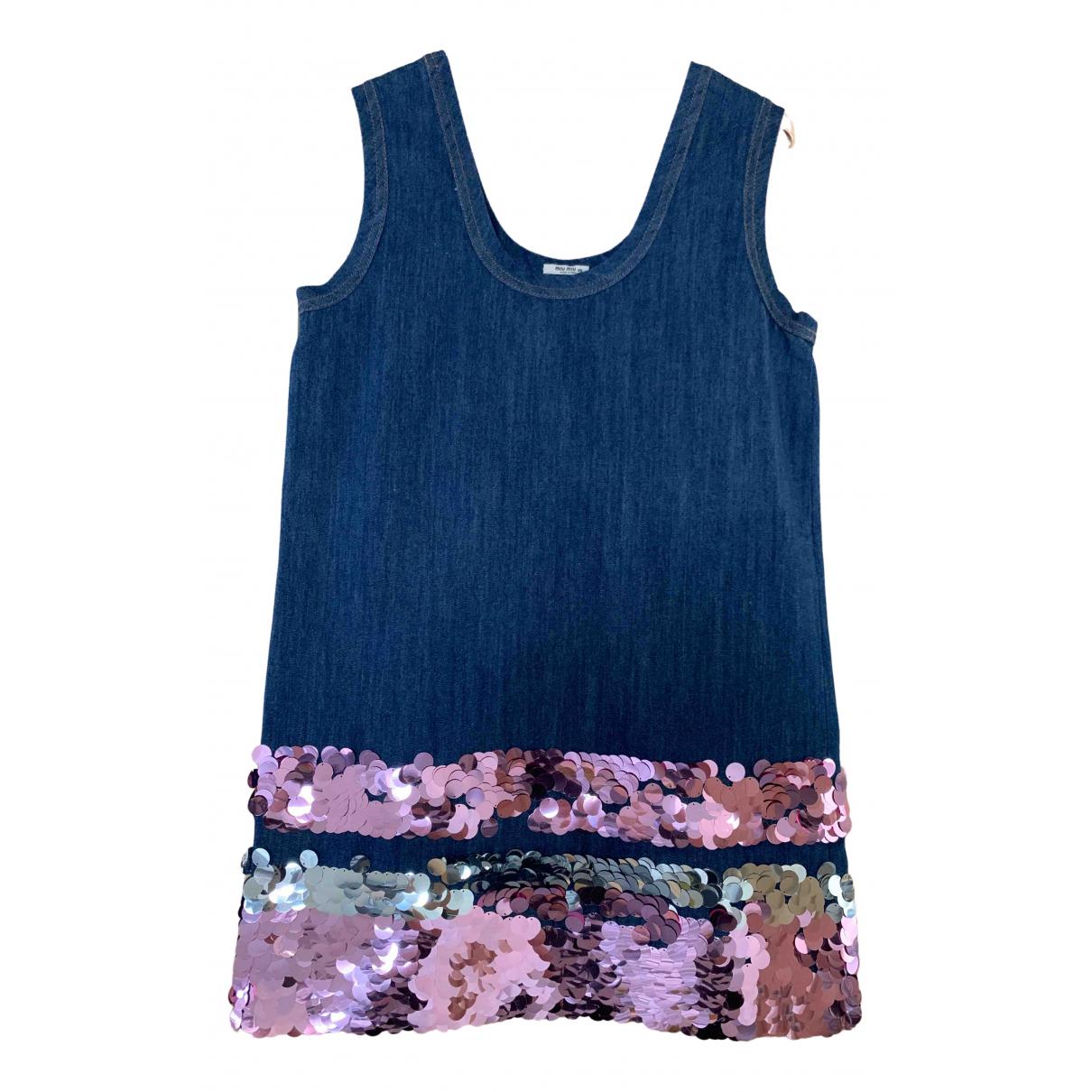 Miu Miu \N Kleid in  Blau Denim - Jeans