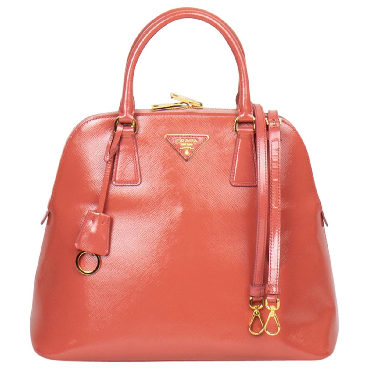 Prada saffiano  Orange Leather handbag for Women N