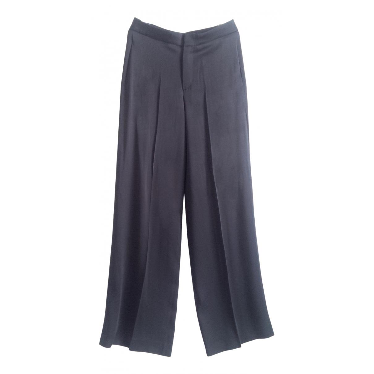 Zara \N Navy Trousers for Women XS International