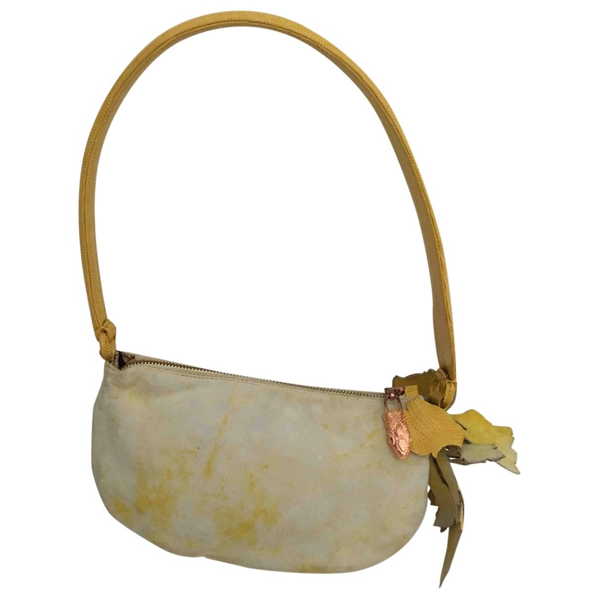 Roberto Cavalli \N Yellow Lizard handbag for Women \N