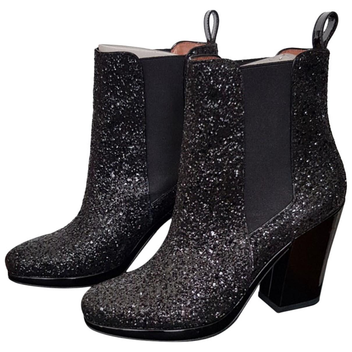 Robert Clergerie - Boots   pour femme en a paillettes - noir