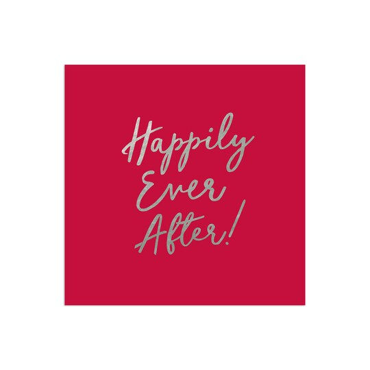 100 Pack of Gartner Studios® Personalized Happily Ever After Foil Wedding Napkin in Claret | 6.5