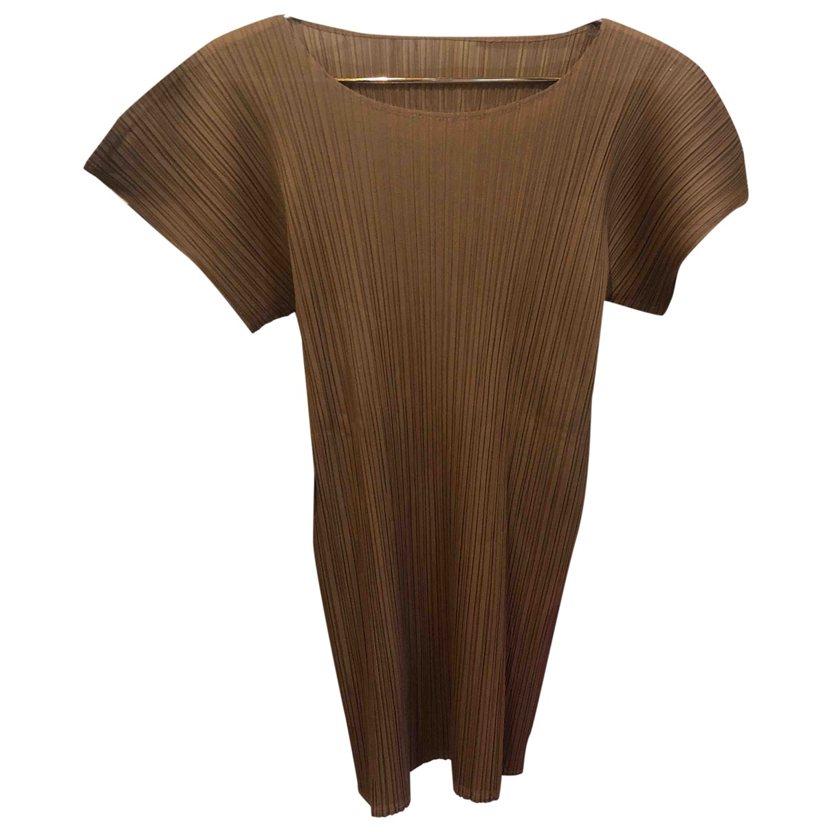 Issey Miyake - Top   pour femme - marron