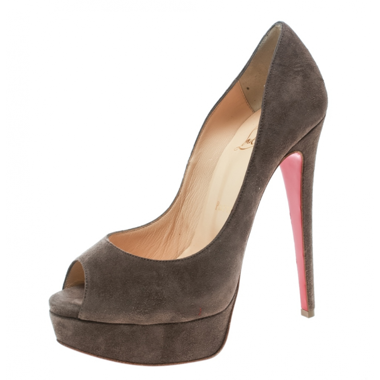Christian Louboutin \N Pumps in  Braun Veloursleder
