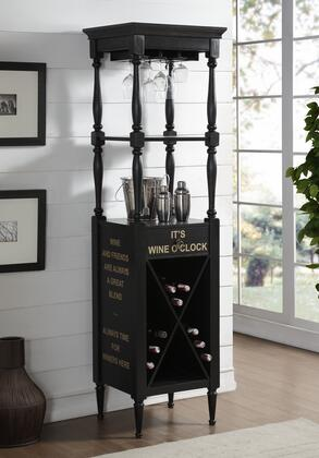 BM184777 Wooden Wine Cabinet with Spacious Wine Bottle Holder  Antique
