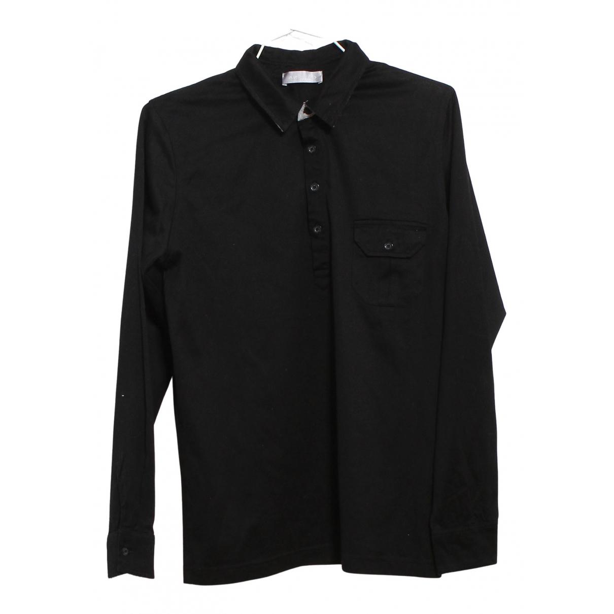 Azzaro N Black Cotton Polo shirts for Men M International