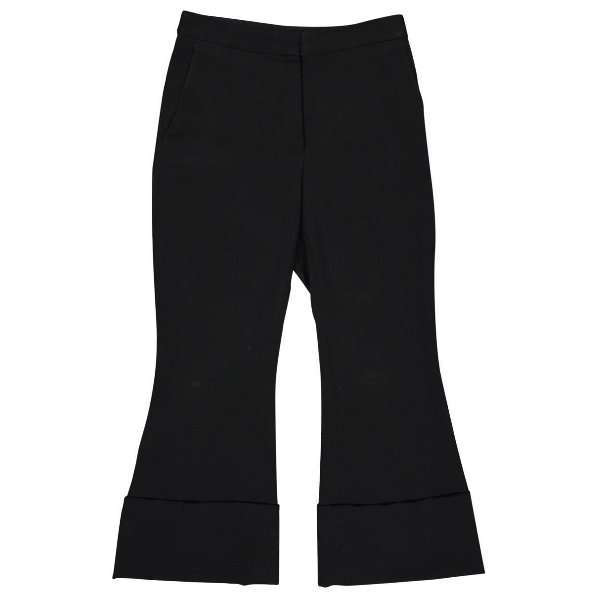 Stella Mccartney \N Black Wool Trousers for Women 38 IT