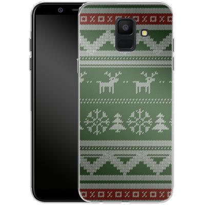 Samsung Galaxy A6 Silikon Handyhuelle - Norwegian Jumper Green von caseable Designs