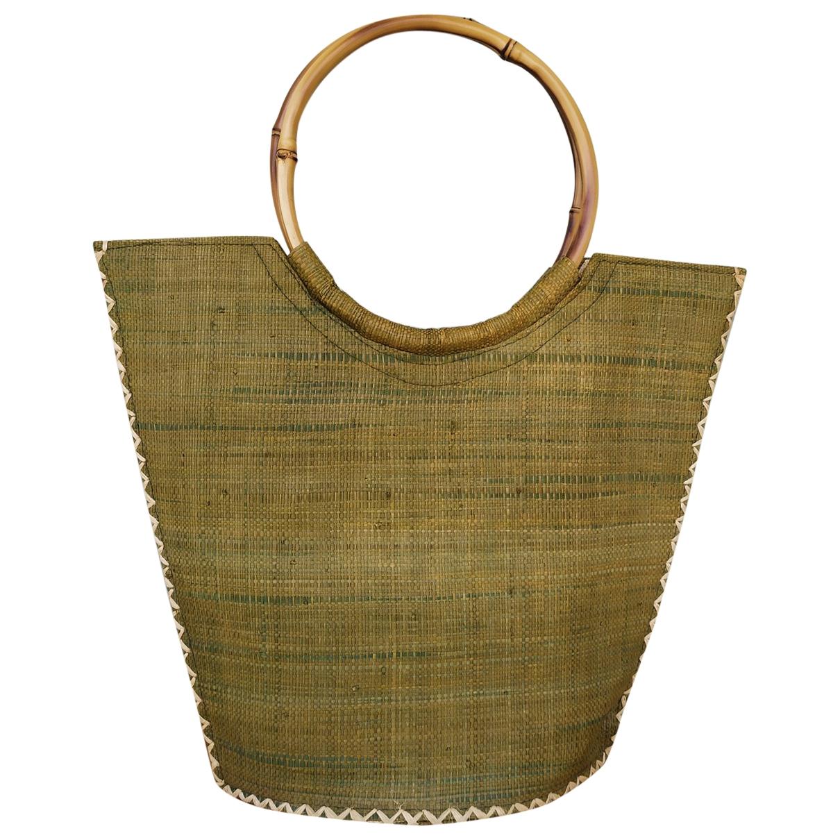 Non Signe / Unsigned \N Handtasche in  Gruen Stroh