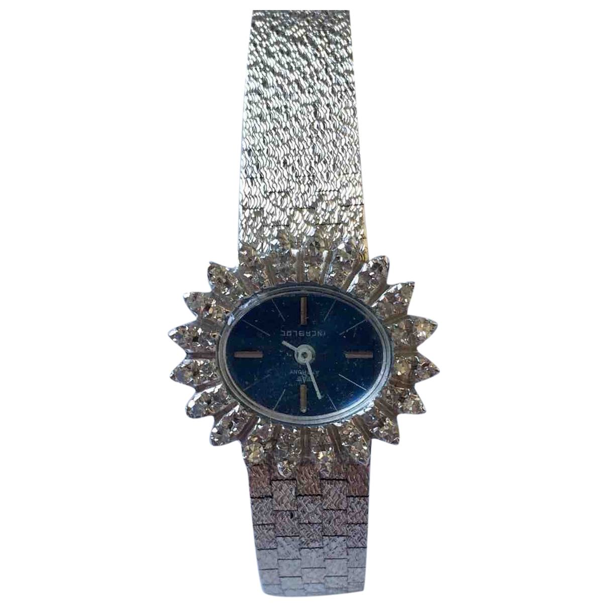 Non Signe / Unsigned \N Uhr in  Silber Weissgold