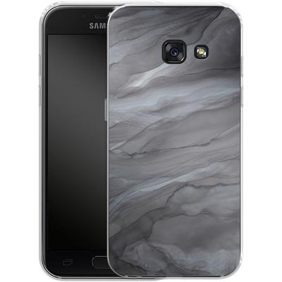 Samsung Galaxy A3 (2017) Silikon Handyhuelle - Black Watercolour Marble von Becky Starsmore