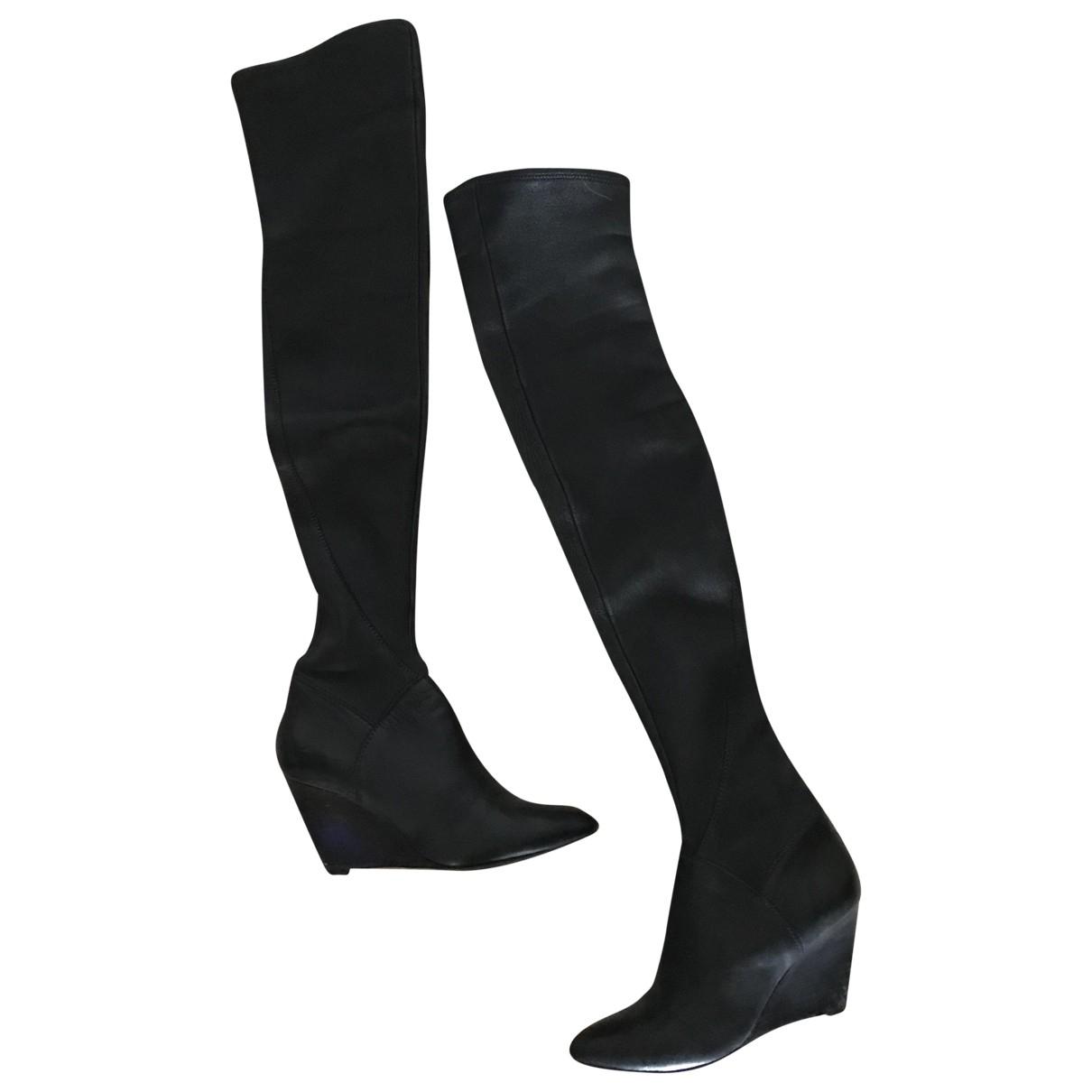 Sigerson Morrison - Bottes   pour femme en cuir - noir
