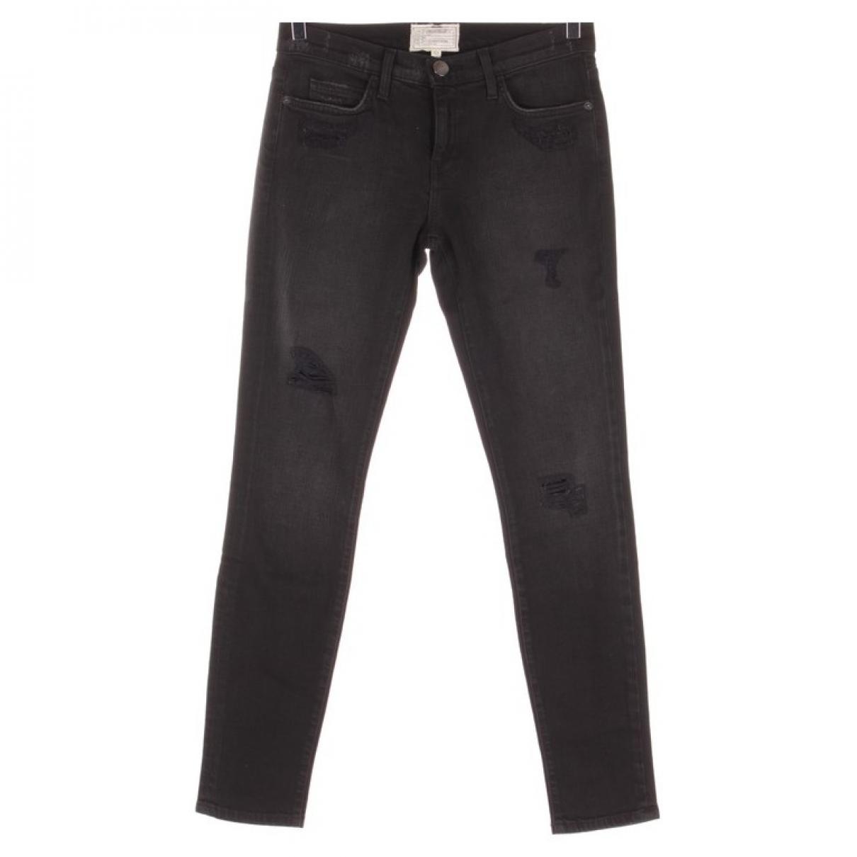 Current Elliott \N Black Cotton Jeans for Women 27 US