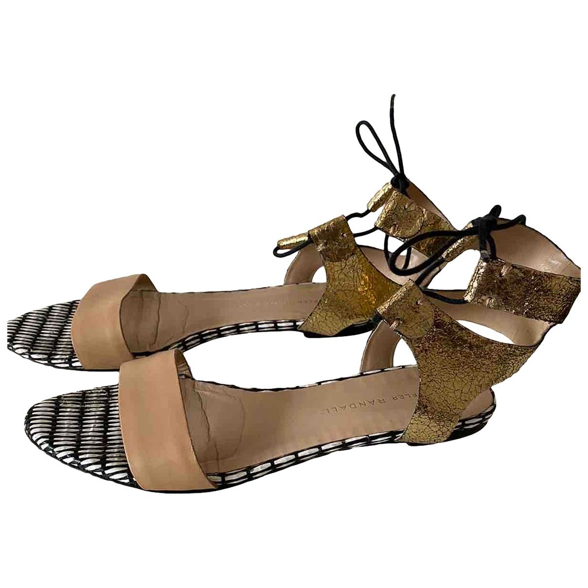 Sandalias romanas de Cuero Loeffler Randall