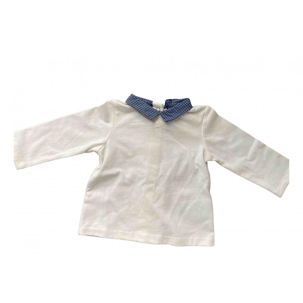Cyrillus - Top   pour enfant en coton - blanc