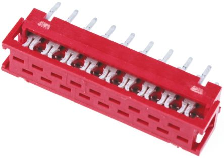 TE Connectivity 18-Way IDC Connector Plug for Cable Mount, 2-Row (5)