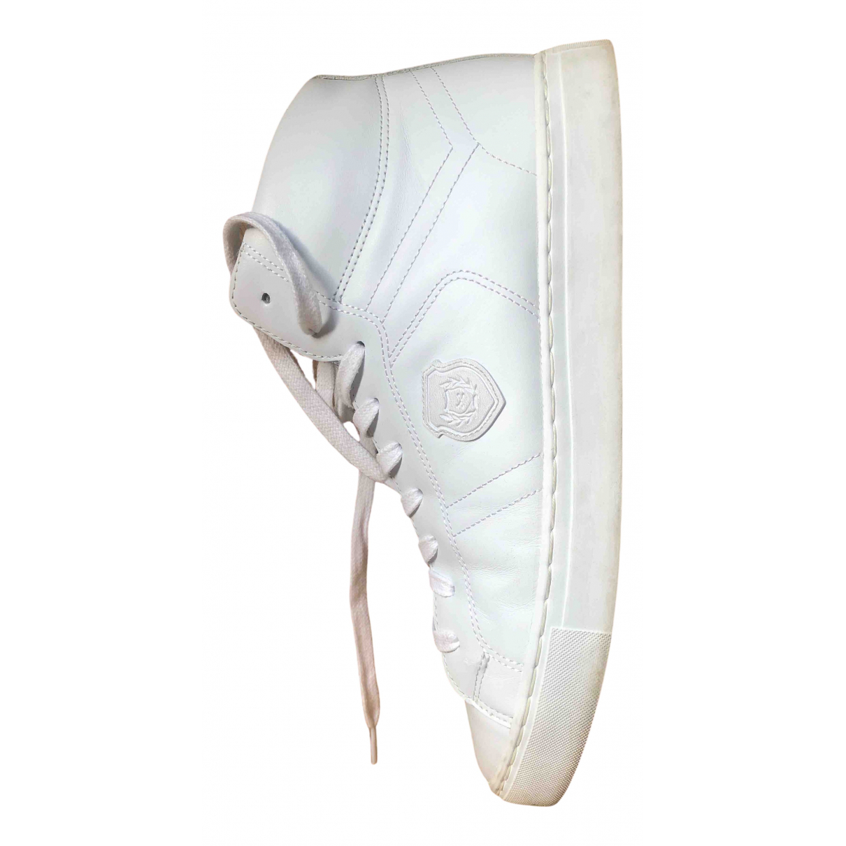 The Kooples N White Leather Trainers for Men 44 EU