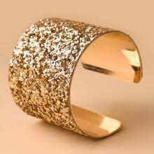Glitter Wide Cuff Bracelet