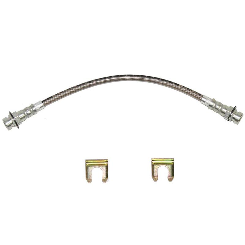 Fine Lines HSP4312SS Brake Hose For 67-70 Ford Mustang 67-71 Fairland Torino and 67-70 Mercury Cougar Front Drum 2 Required Stainless