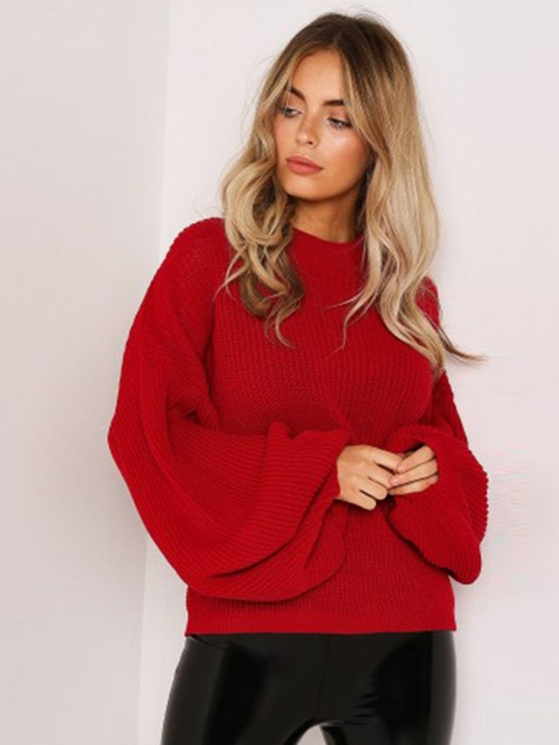 Ericdress Thick Lantern Sleeve Long Sleeve Standard Sweater