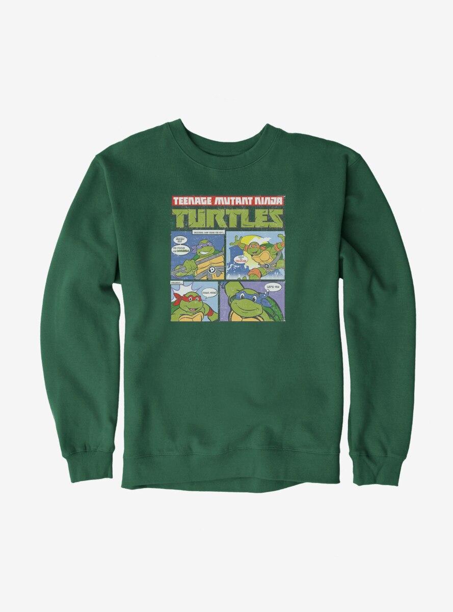Teenage Mutant Ninja Turtles Comic Strip Group Catchphrases Sweatshirt
