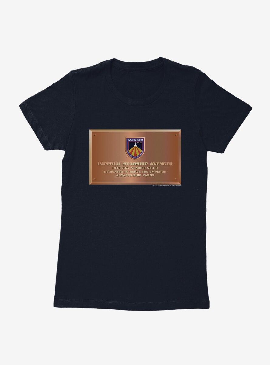 Star Trek Imperial Starship Avenger Plaque Womens T-Shirt
