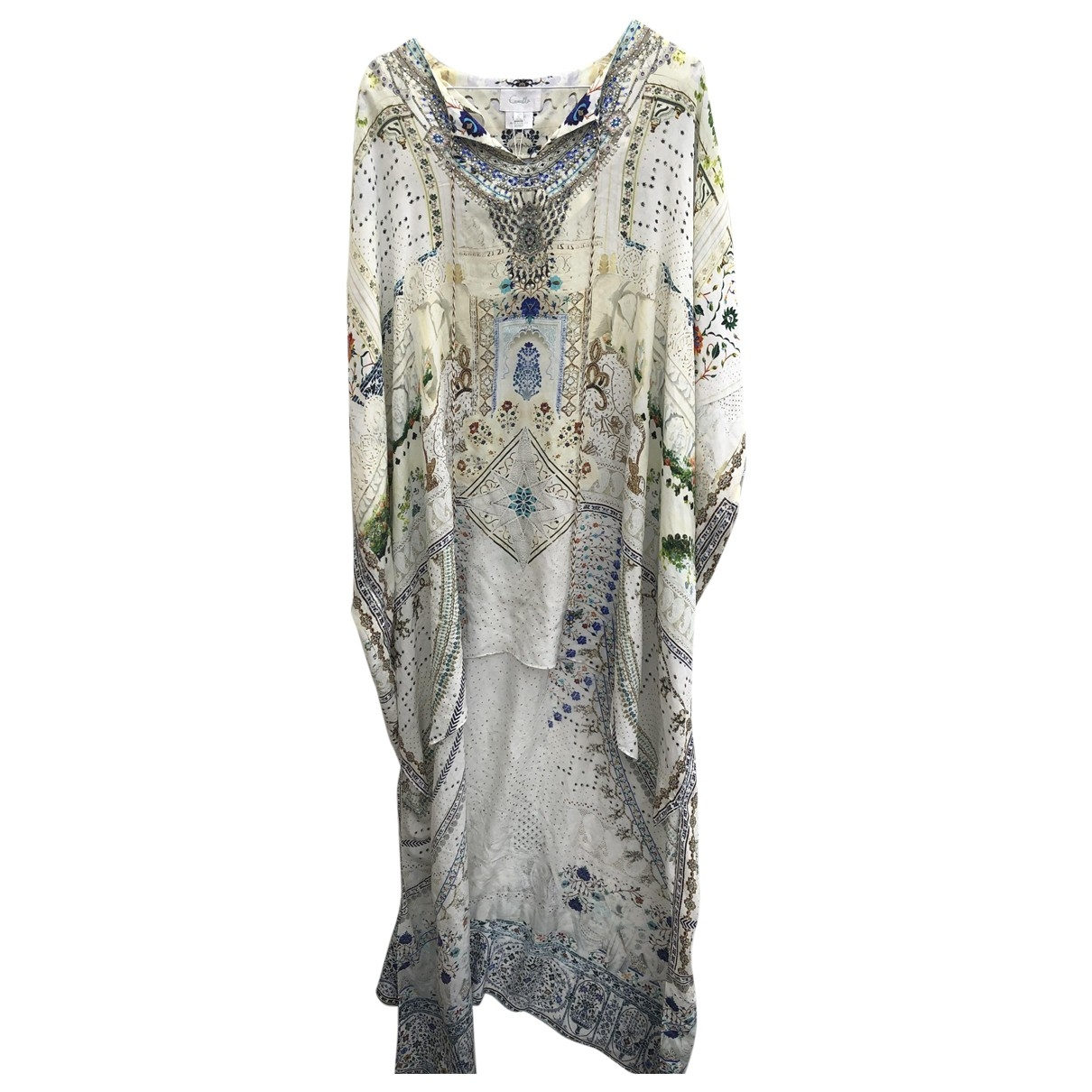 Camilla \N Kleid in  Ecru Seide