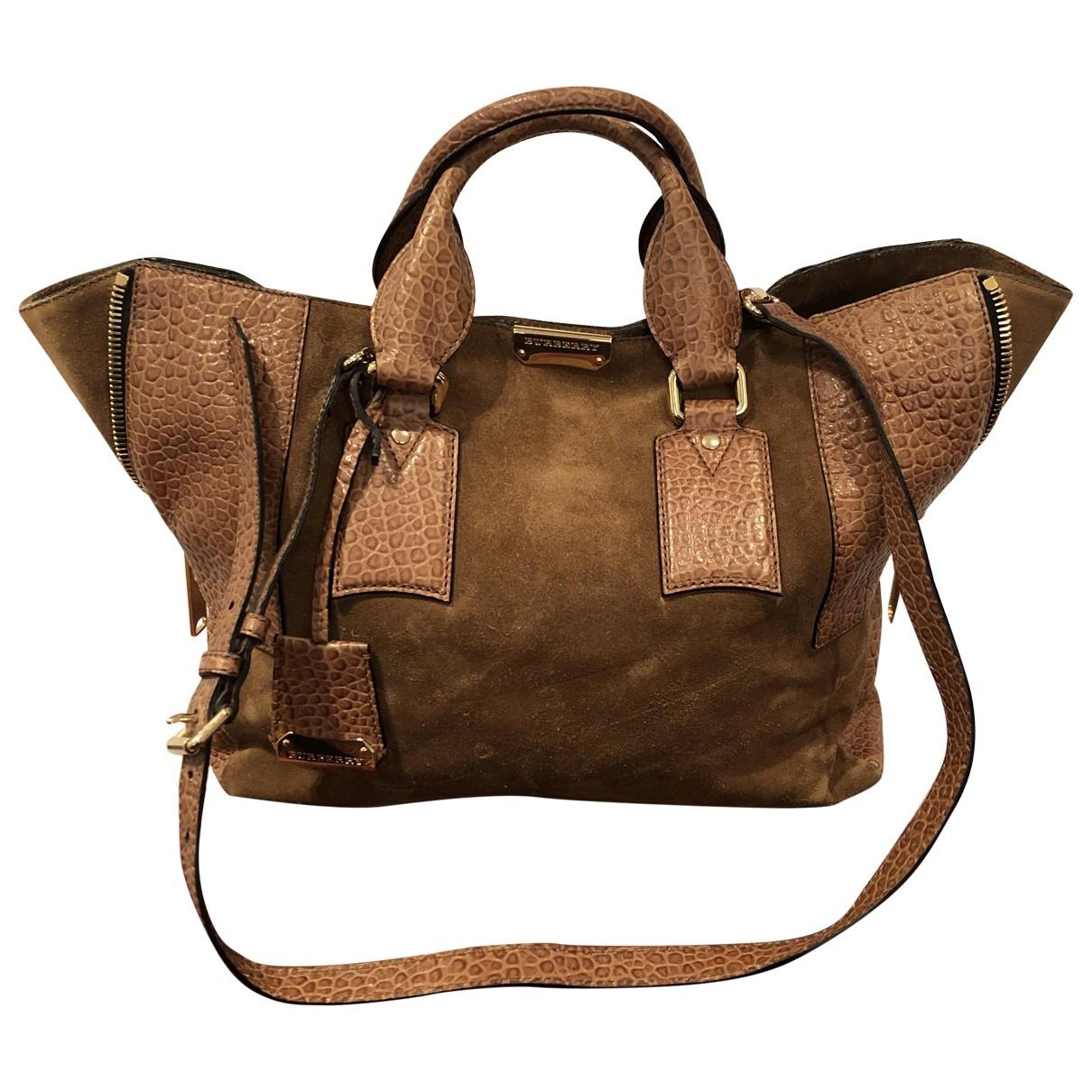 Burberry \N Handtasche in  Kamel Veloursleder