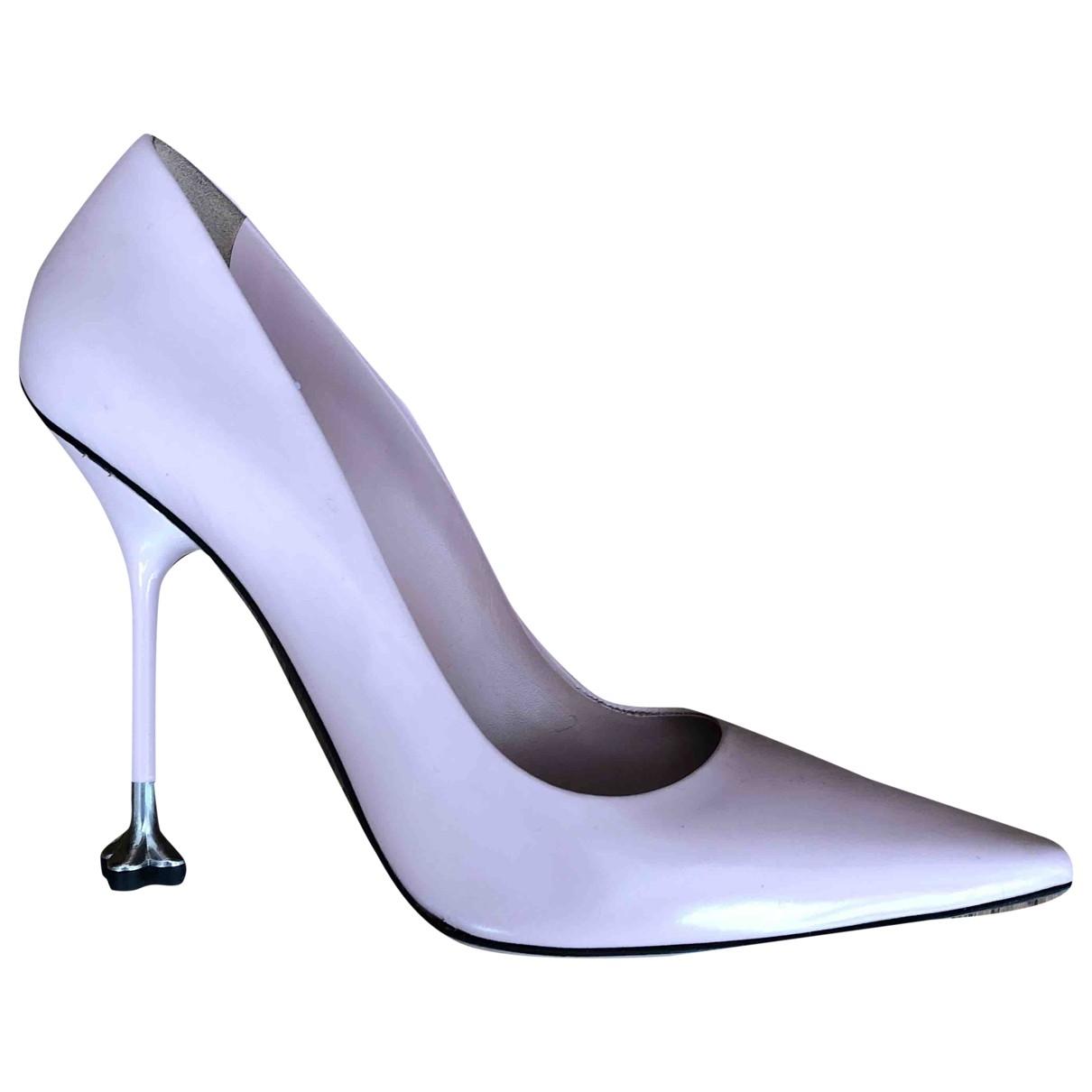 Prada \N Pink Leather Heels for Women 39 EU