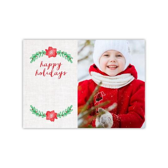 Gartner Studios® Personalized Poinsettia Flat Holiday Photo Card | Michaels®