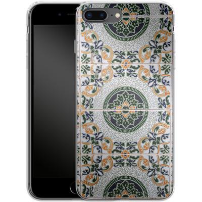 Apple iPhone 8 Plus Silikon Handyhuelle - Yellow and Green Tiles von Omid Scheybani