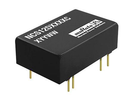 Murata Power Solutions NCS12 12W Isolated DC-DC Converter Through Hole, Voltage in 9 → 36 V dc, Voltage out ±12V