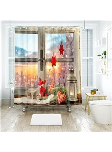 Christmas Beautiful Scenery 3D Bathroom Shower Curtain