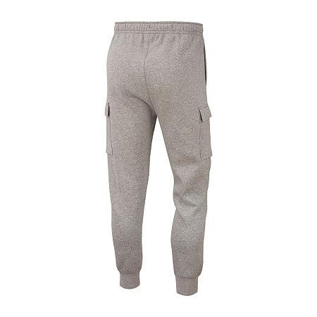 Nike Mens Regular Fit Cargo Fleece Jogger Pant, Xx-large , Gray