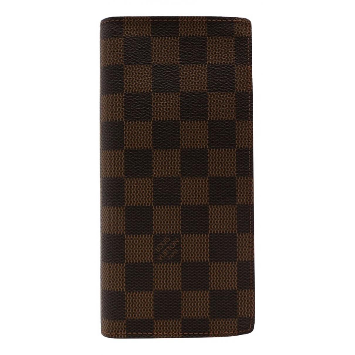 Louis Vuitton - Petite maroquinerie Brazza pour homme en toile - marron