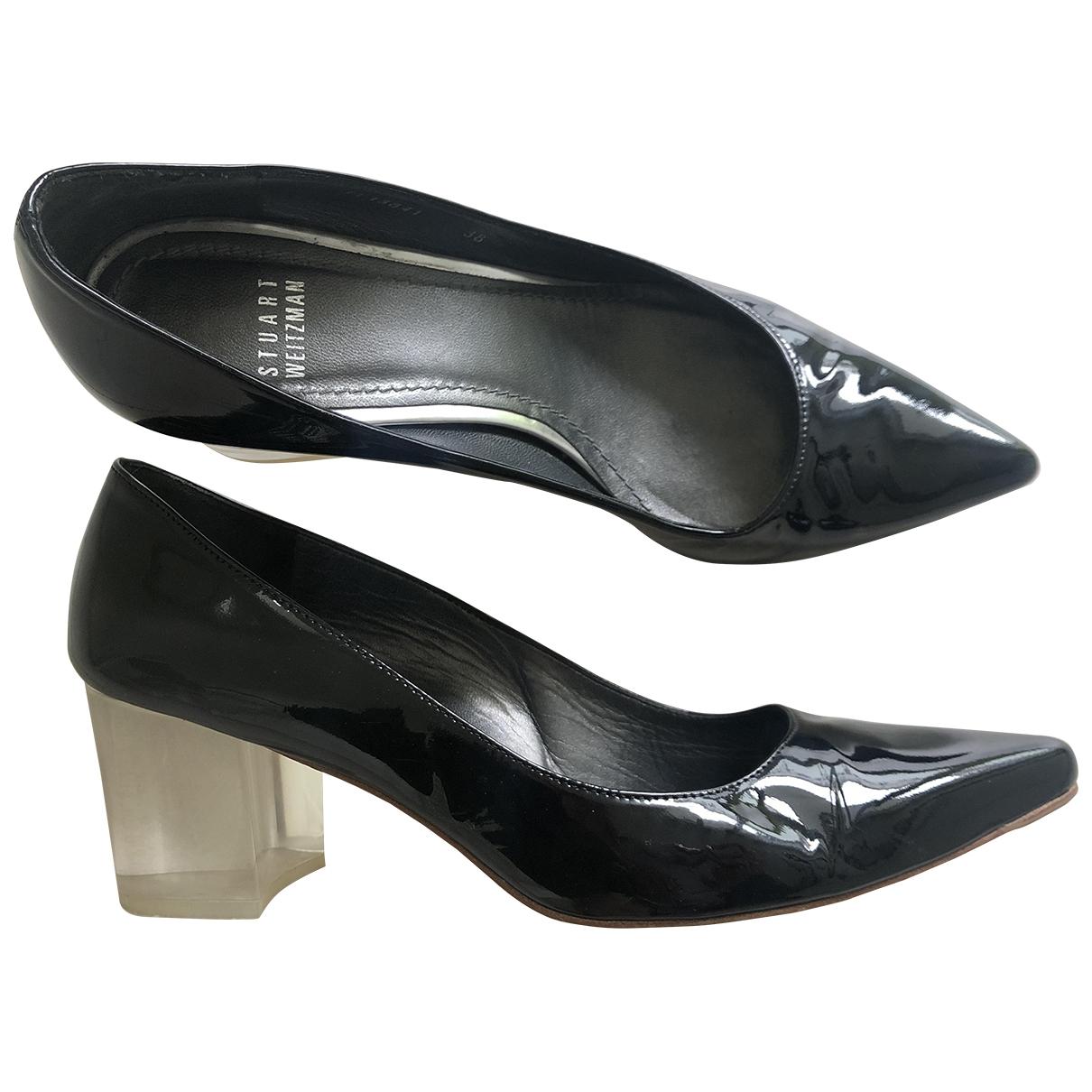 Stuart Weitzman \N Black Patent leather Heels for Women 38 EU
