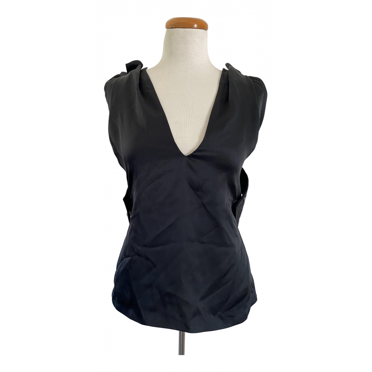 Jil Sander \N Black Silk  top for Women 42 IT
