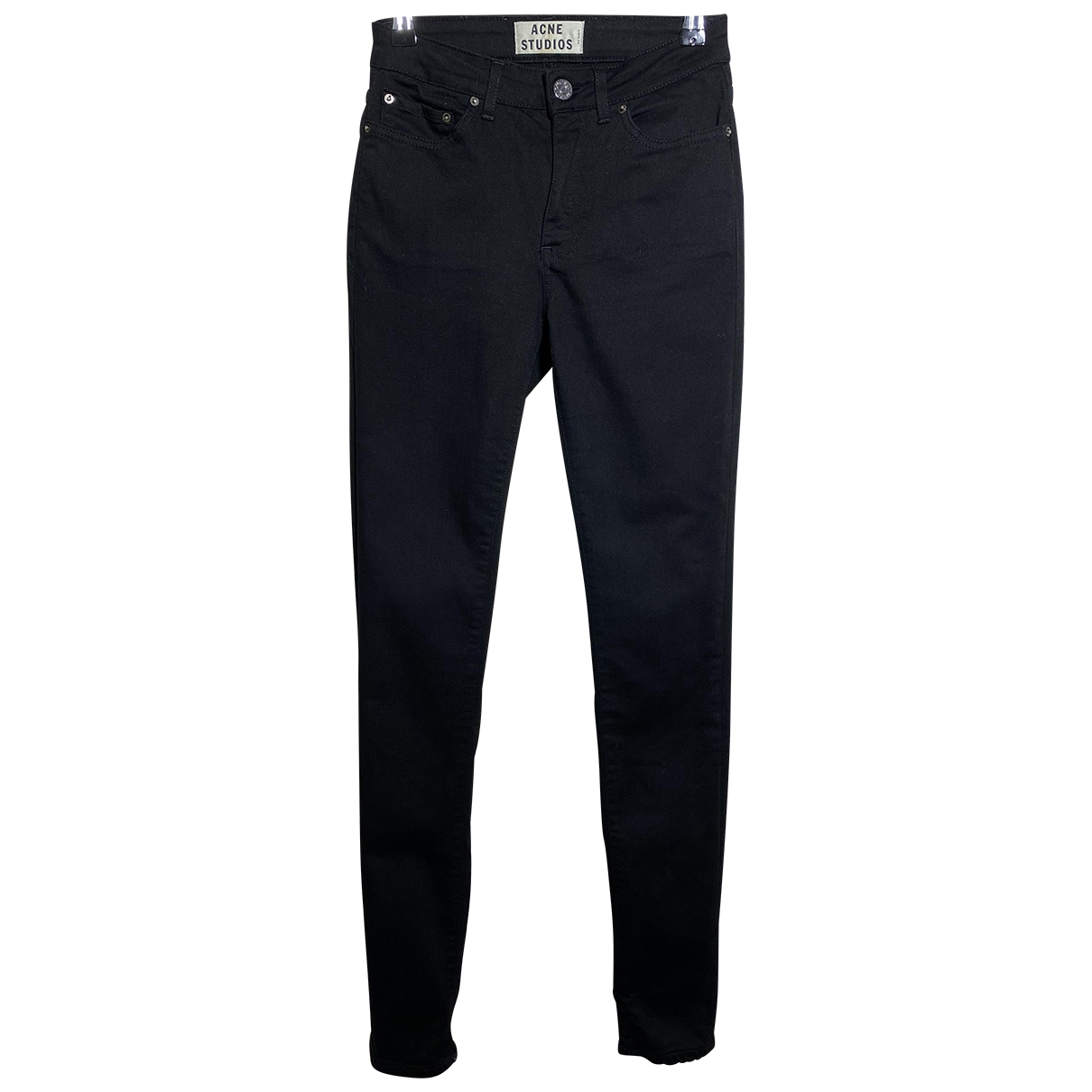 Acne Studios \N Black Cotton - elasthane Jeans for Women 32 FR