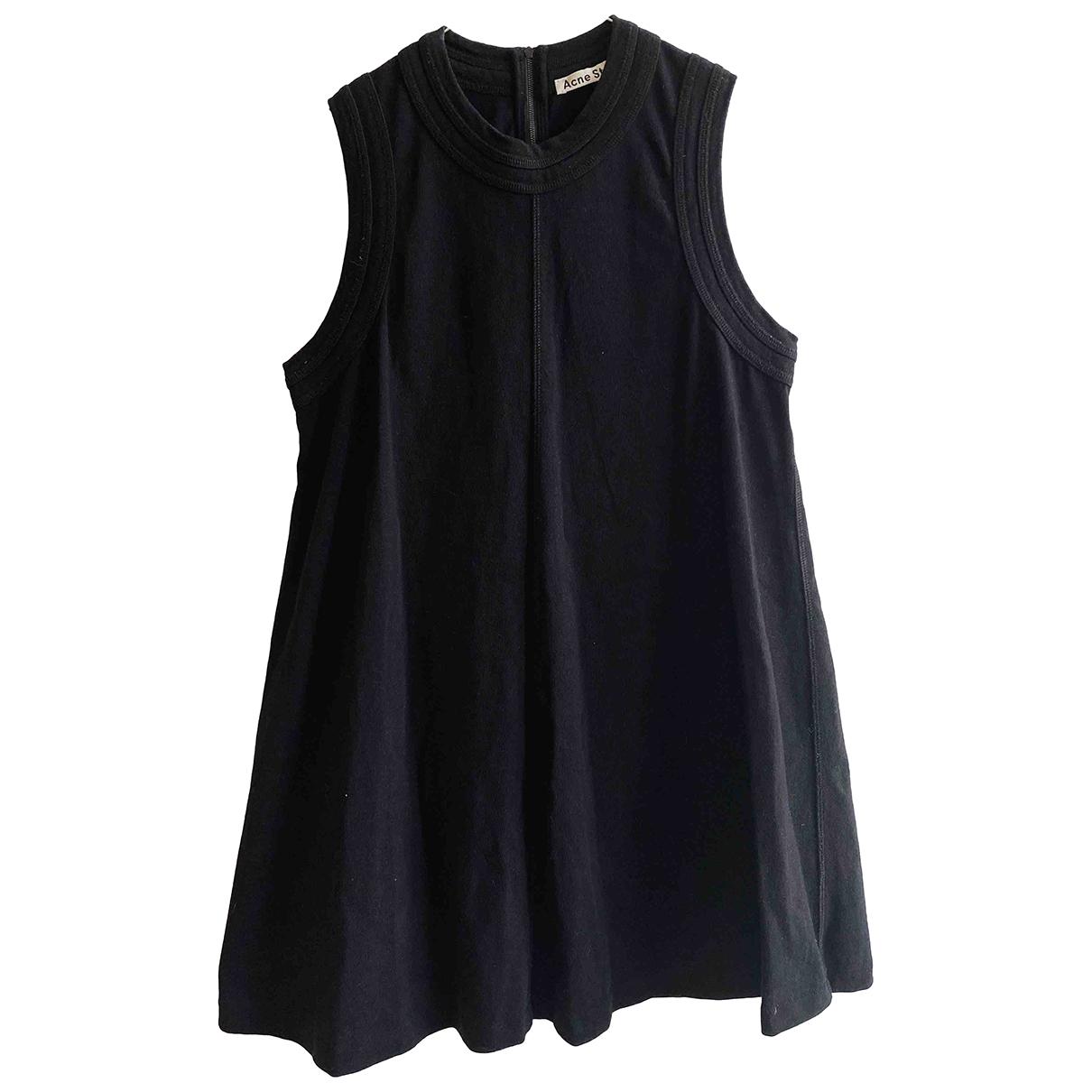 Acne Studios - Robe   pour femme en coton - noir