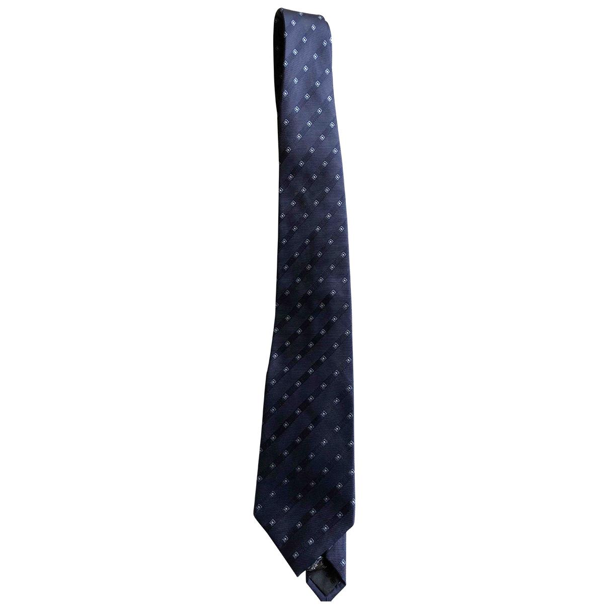 Rochas \N Krawatten in  Marine Seide