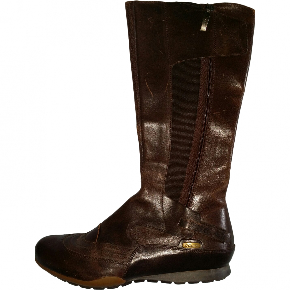Cesare Paciotti \N Brown Leather Boots for Women 37 EU