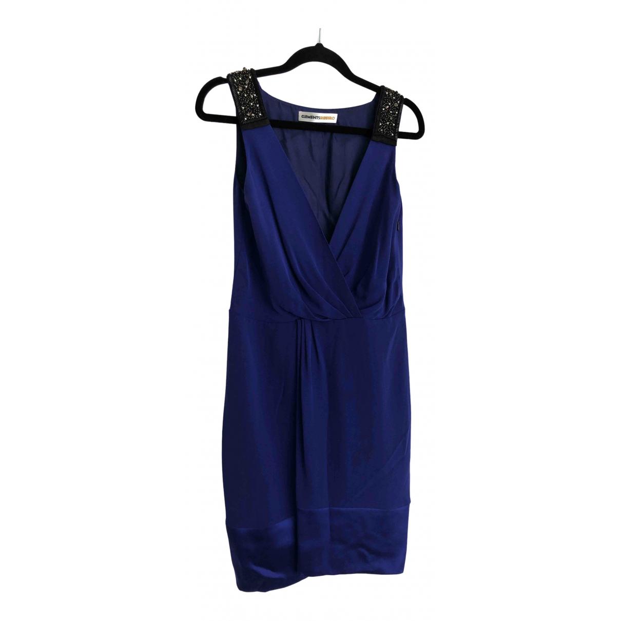 Clements Ribeiro - Robe   pour femme en soie - bleu