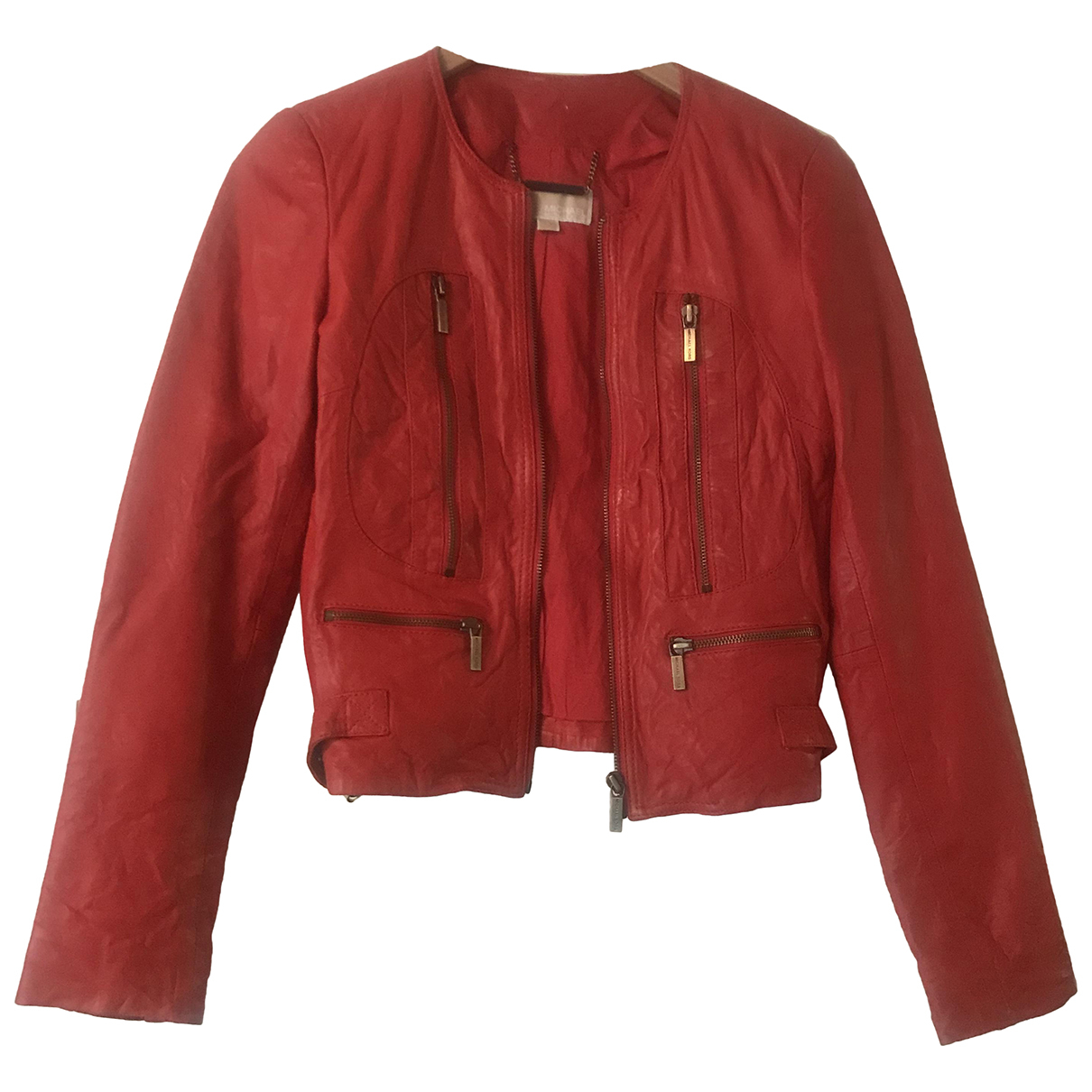 Michael Kors N Red Leather jacket for Women S International