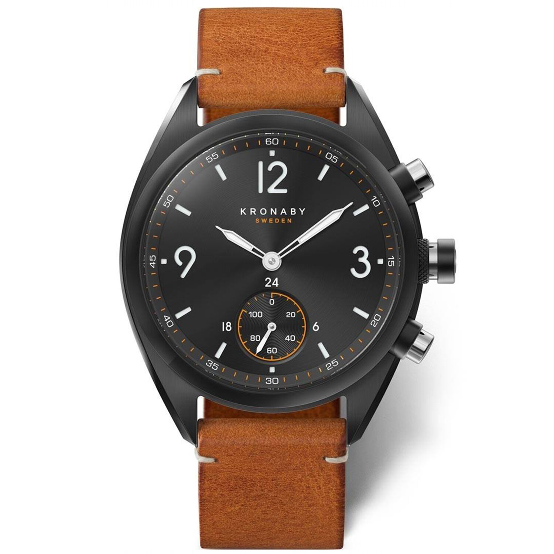 Kronaby Apex S3116-1 Brown Stainless-Steel Automatic Self Wind Smart Watch