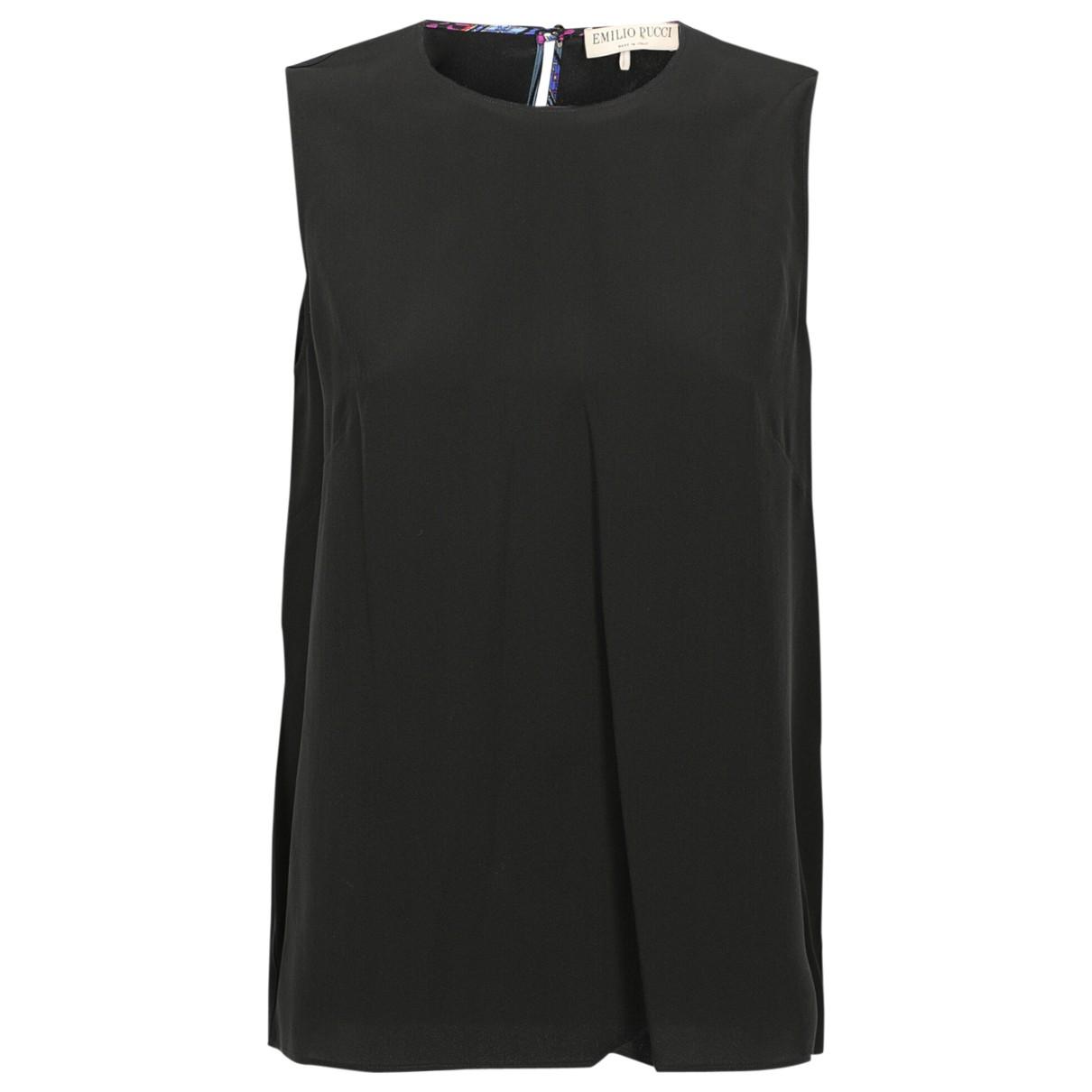 Emilio Pucci \N Black Silk  top for Women 42 IT